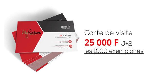 25000 FCFA Les 1000 Cartes De Visite